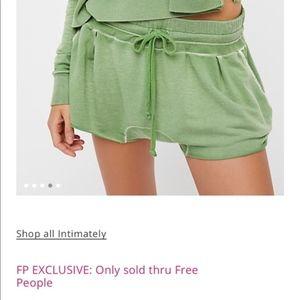 Intimately Free People Morning Shorts Green